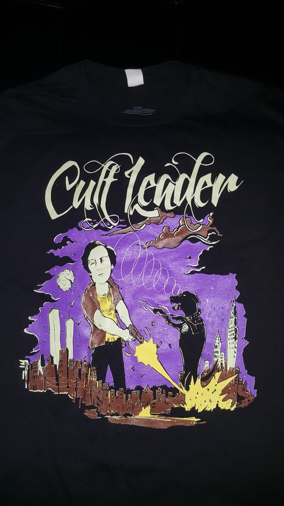 Image of CULT LEADER BERKOWITZ VS DOG T SHIRT (IN STOCK)