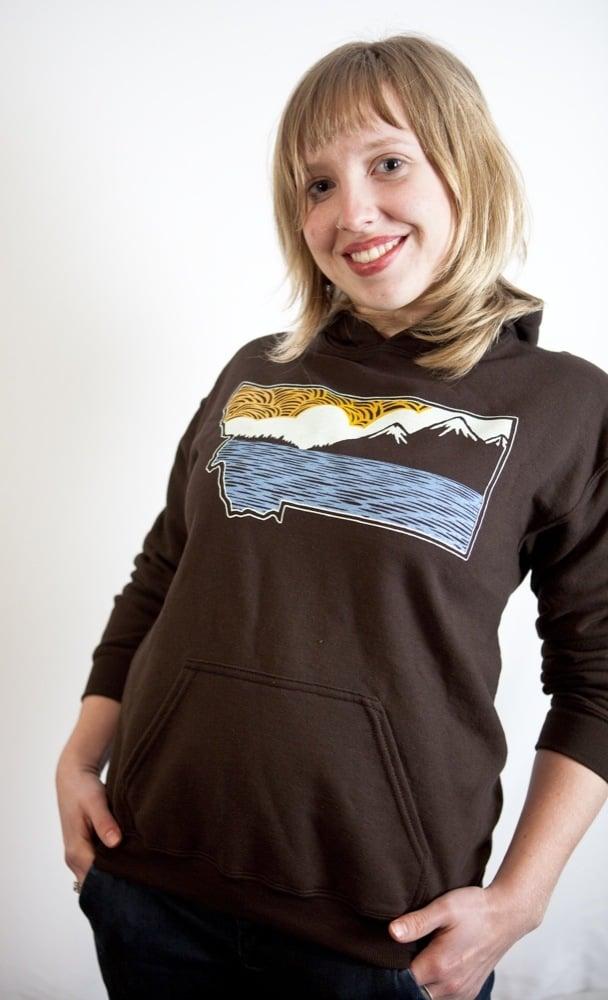 Image of Pullover Hoodie: Montanka (Brown)