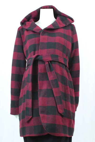 Image of Wool Wrap Coat Size M