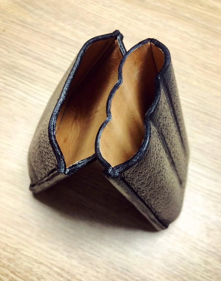 Image of Cigar case - black pigskin grain calfskin