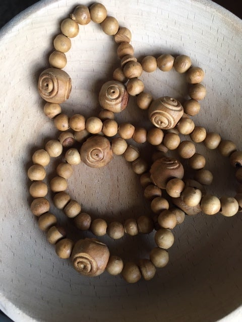Image of Wooden Bead Necklace #100