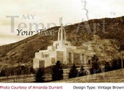 Image of Draper Utah LDS Mormon Temple Art 001 - Personalized LDS Temple Art