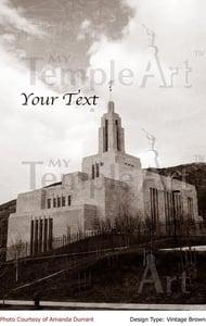 Image of Draper Utah LDS Mormon Temple Art 002 - Personalized LDS Temple Art