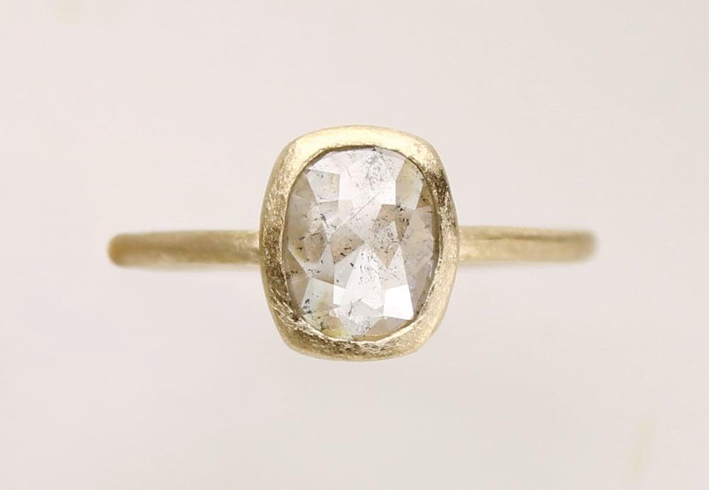 Image of Salt and Pepper diamond ring. 18k. Navajo