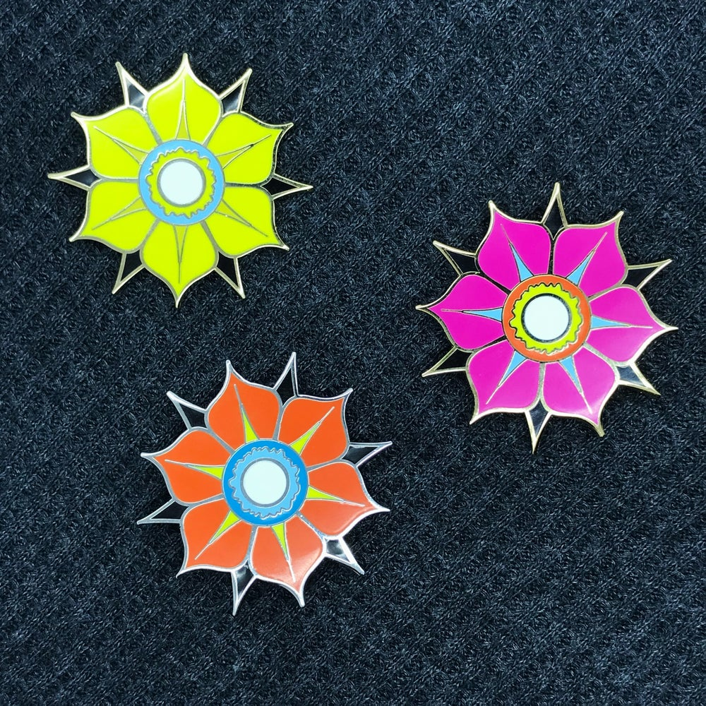 "Image of Series 4 ""Cholla Flower"" Pins"