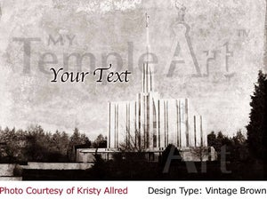 Image of Seattle LDS Mormon Temple Art 001-Personalized Temple Art