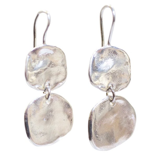 Image of Ibiza medium double disc earrings