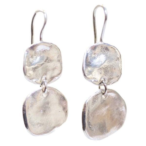 Image of Ibiza medium double disc earrings