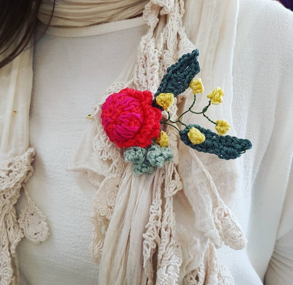 Image of Crochet a beautiful Waratah and Wattle boutonniere with Kate Bruning Wed October 30th 6-9pm