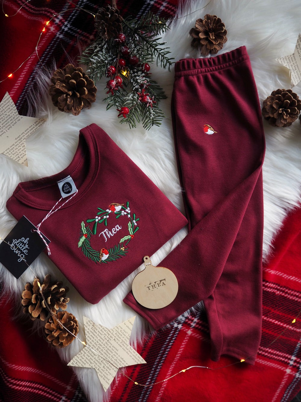 Image of When Robins Appear, PJ's, Burgundy