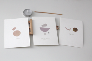 Image of Watercolour Mindful Wellbeing Set // 3x Affirmation A6 Cards