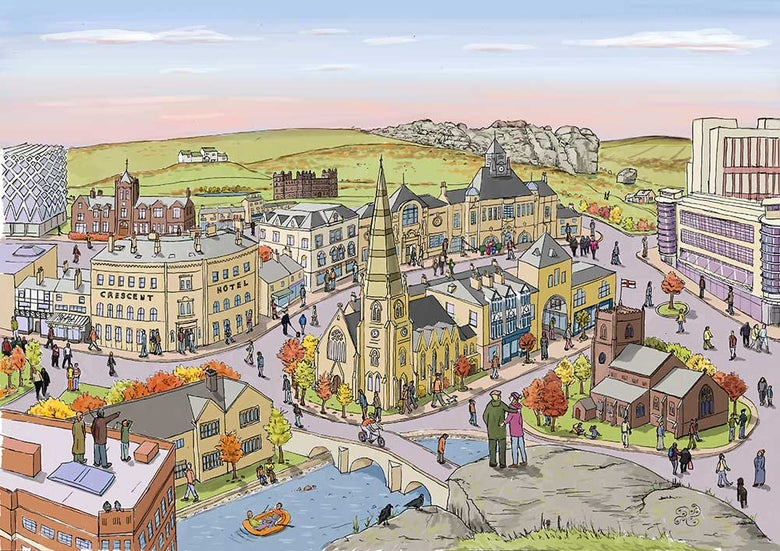 Image of Ilkley in Autumn - Limited edition print