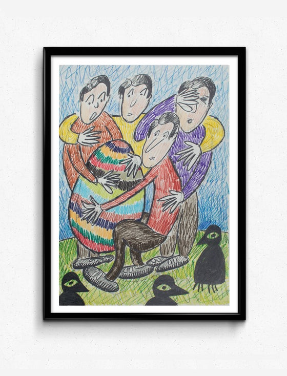Image of Original Woozy Machine Paintings/Drawings