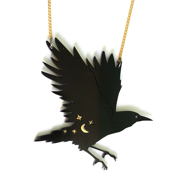 Image of Mystical Crow Necklace