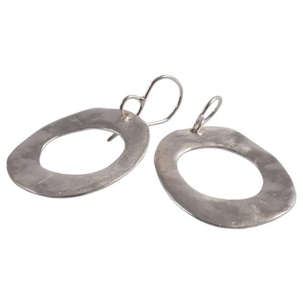Image of Lola flat hoop earrings