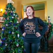 Image of Queen of NYC Christmas Sweatshirt - Inspired by Fairytale of New York