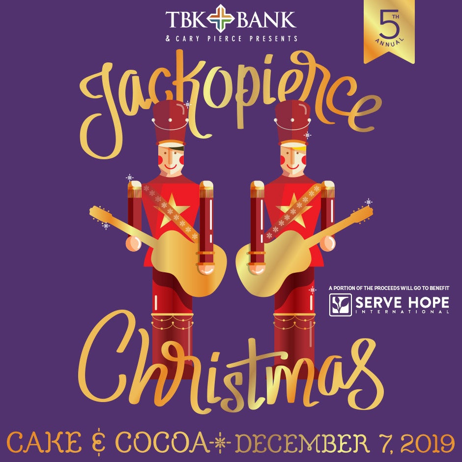 """Image of Jackopierce Christmas - Onstage VIP """"After-Show Cake & Cocoa"""" - December 7, 2019"""