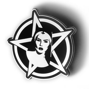 Image of Official Satanic Nun Enamel Pin