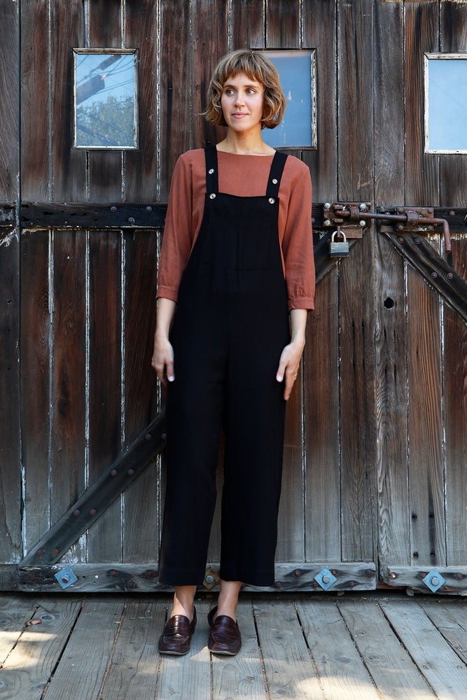 Image of Overall<br>Black Linen