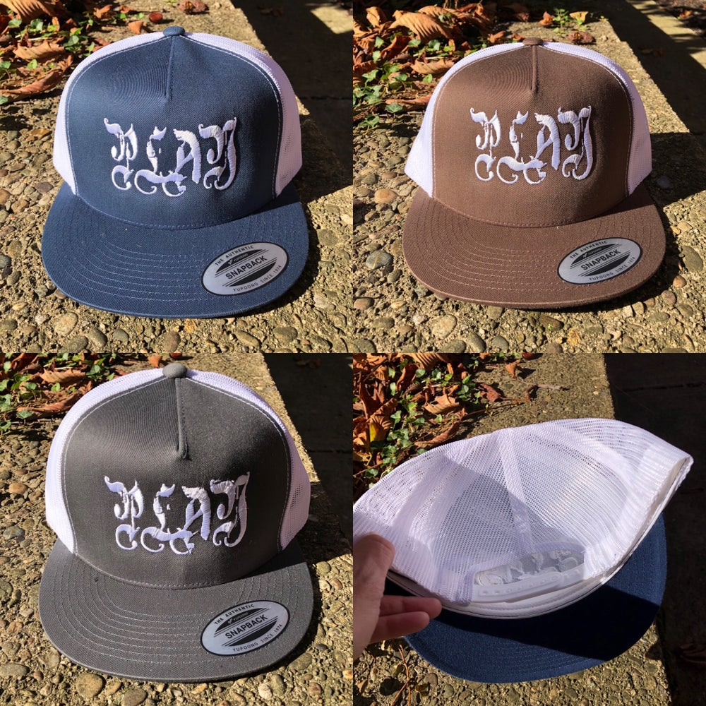Image of Play Embroidered Trucker Hat