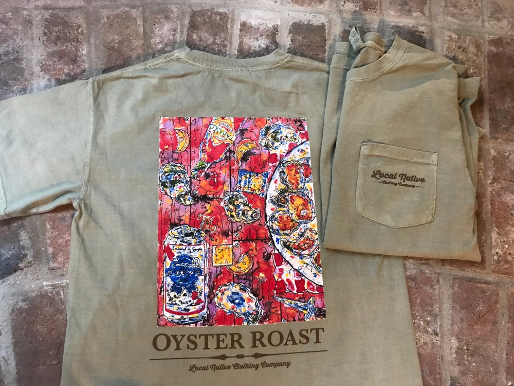 Image of Oyster Roast Short Sleeve Pocket Tee