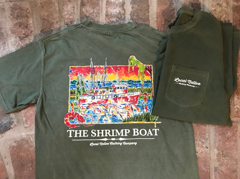 Image of Shrimp Boat Short Sleeve Pocket Tee