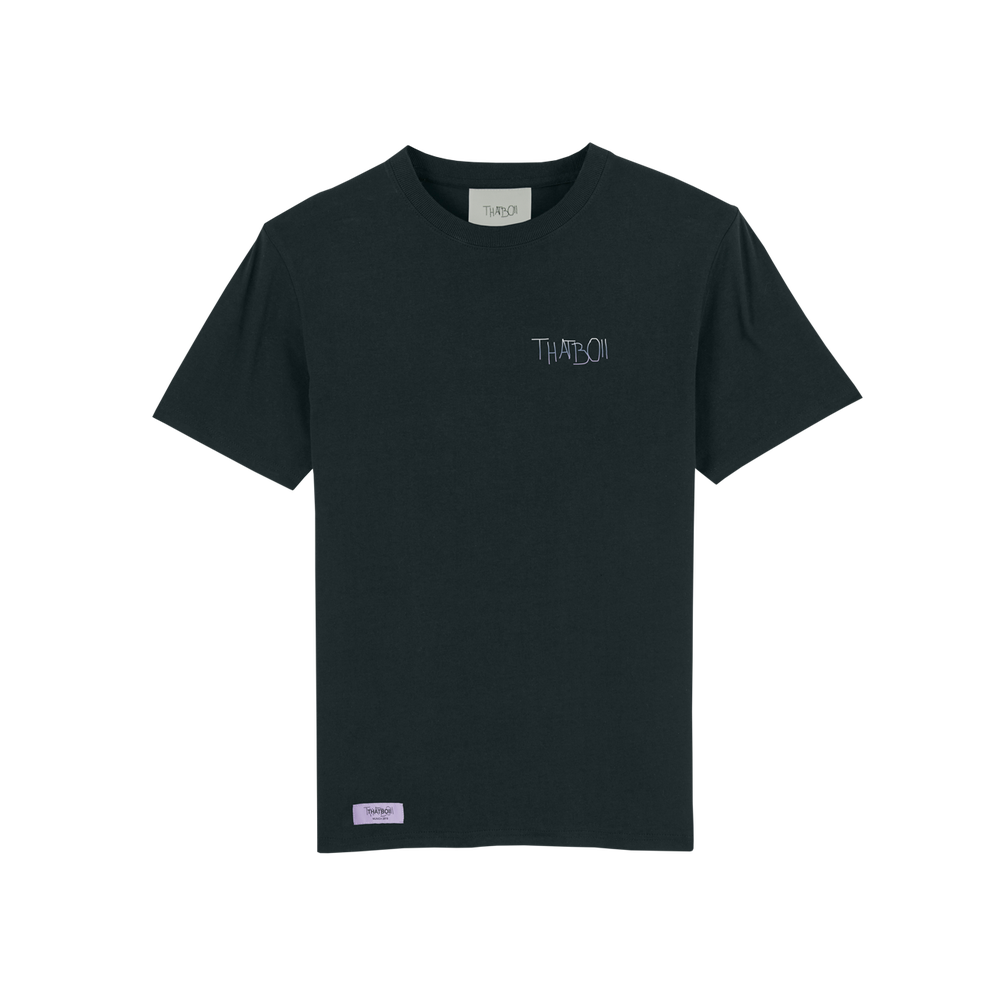 Image of thatboii blurred tee - black