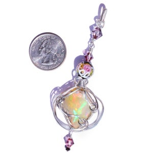 Image of Large Ethiopian Opal Handmade Wire Wrapped Pendant
