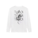 Image of thatboii blurred long sleeve - white