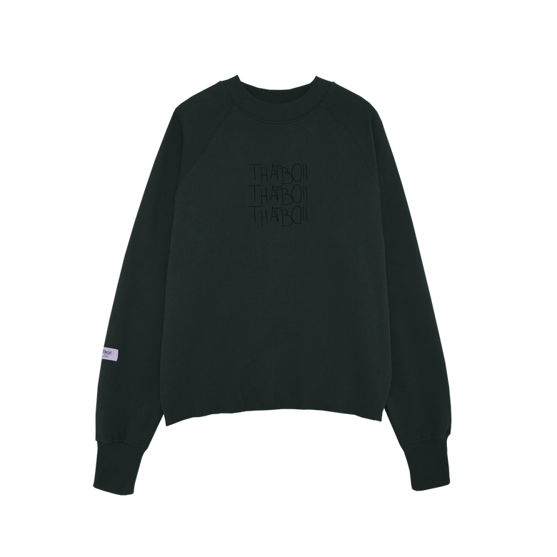 Image of thatboii blurred sweater - black