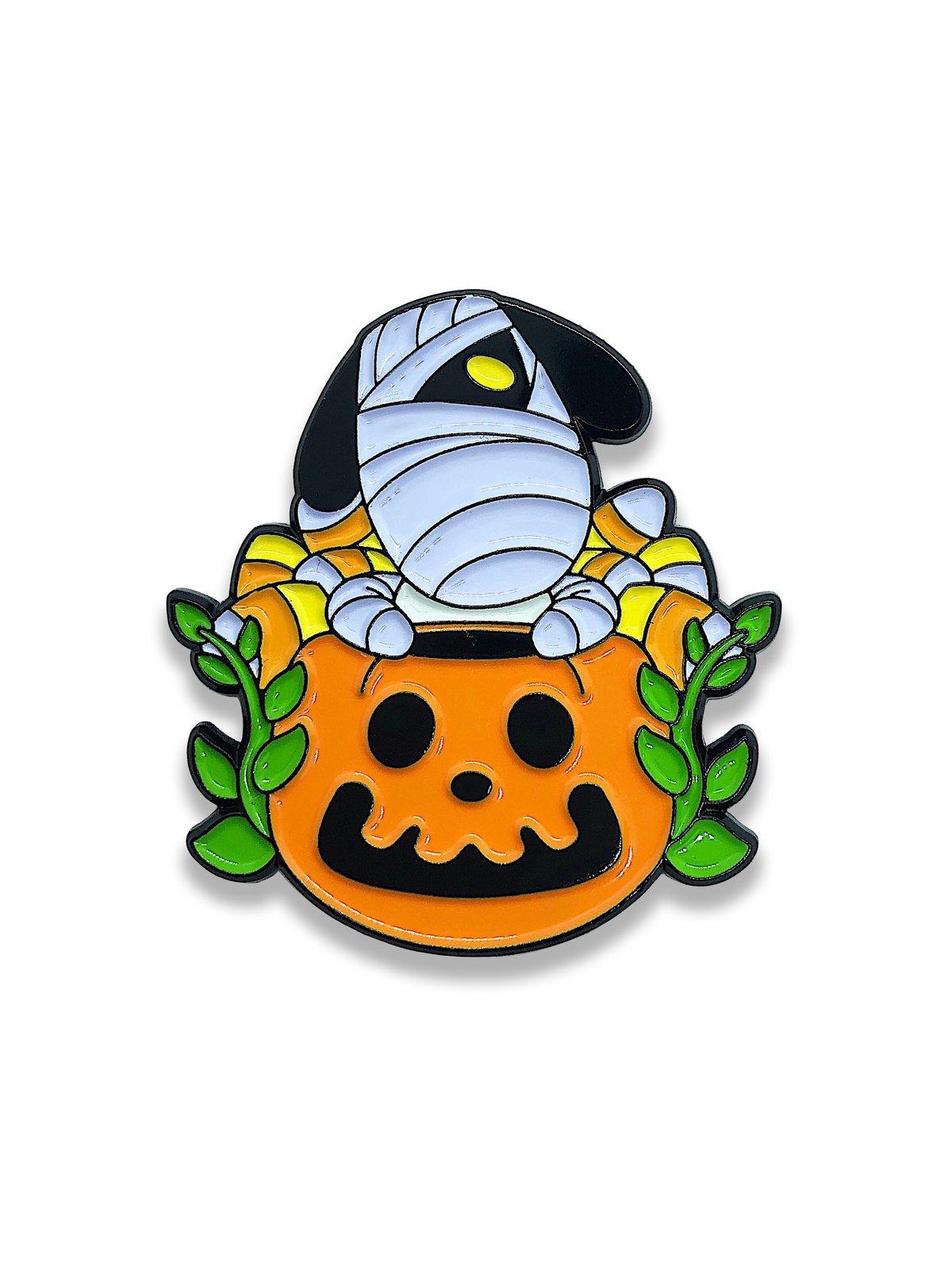 Image of Lucky's JACK-o'-Lantern enamel pin