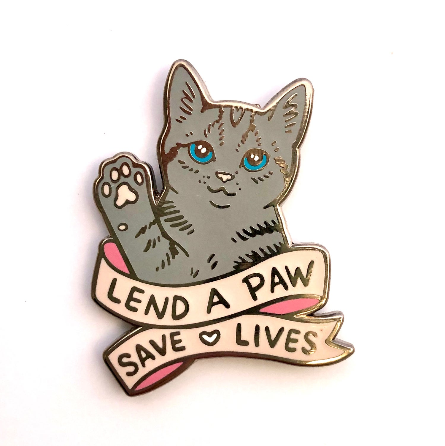 "Image of NEW! ""LEND A PAW"" Enamel Pin"