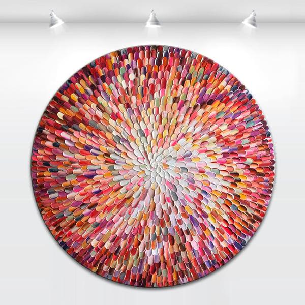 Image of Orbis bloom III - 90x90cm