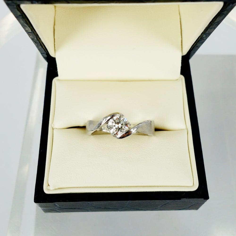 Image of Contemporary Twist diamond engagement ring