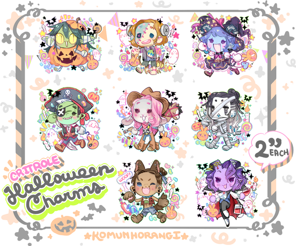 "Image of CritRole Halloween 2"" Charms"