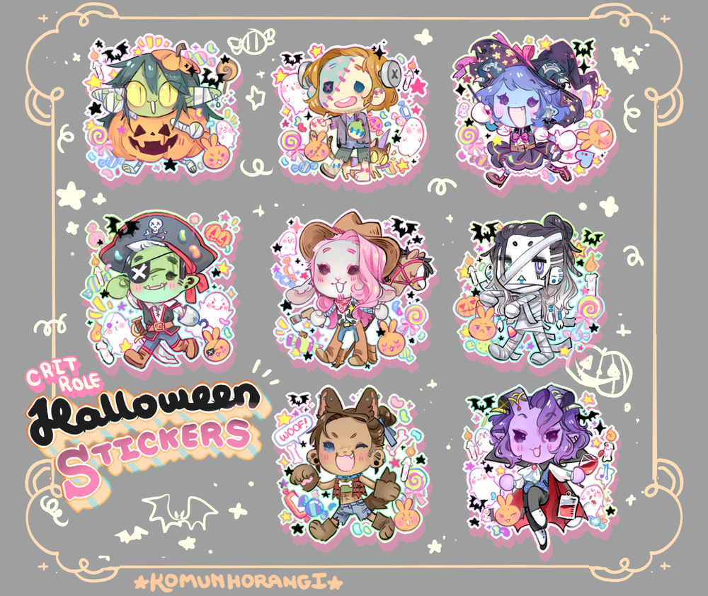 Image of CritRole Halloween Stickers