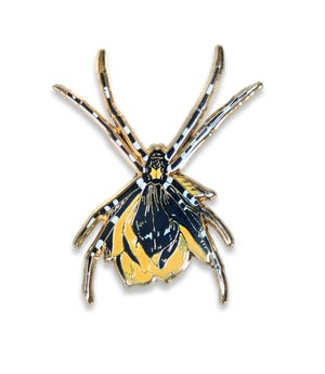 Image of Black Orb Weaver Pin - SOLD OUT