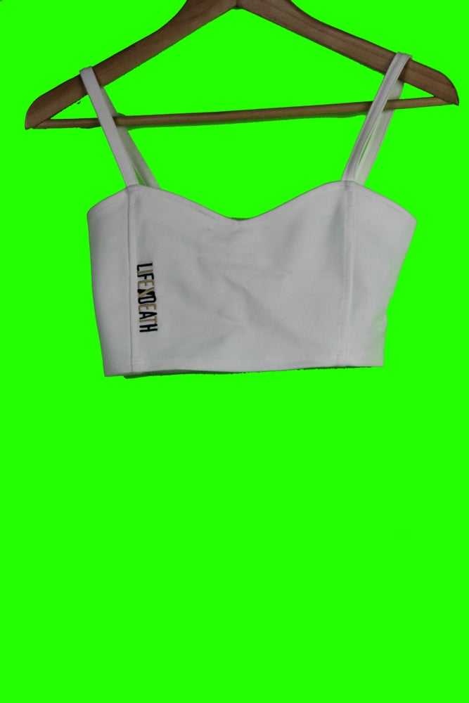 Image of WHITE CROP TOP BRA