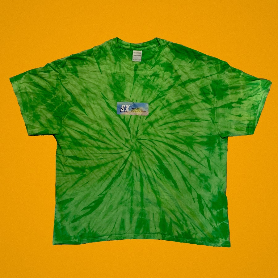 Image of TRUE COLOURS // GREEN TIE DYE TEE