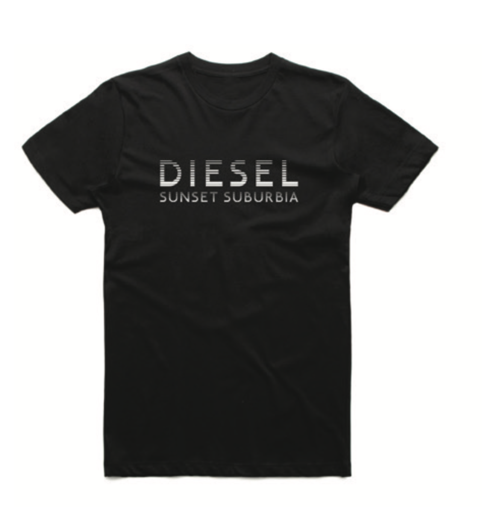 Image of Sunset Suburbia Tee - BLACK
