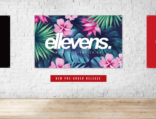 Image of E11evens - Premium fabric garage banners