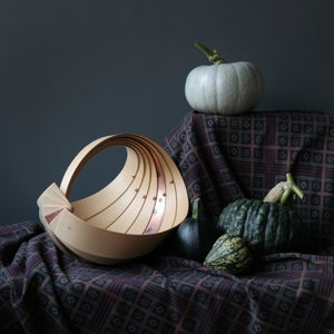 Image of Steambent Trug in Ash & Copper by Jane Crisp