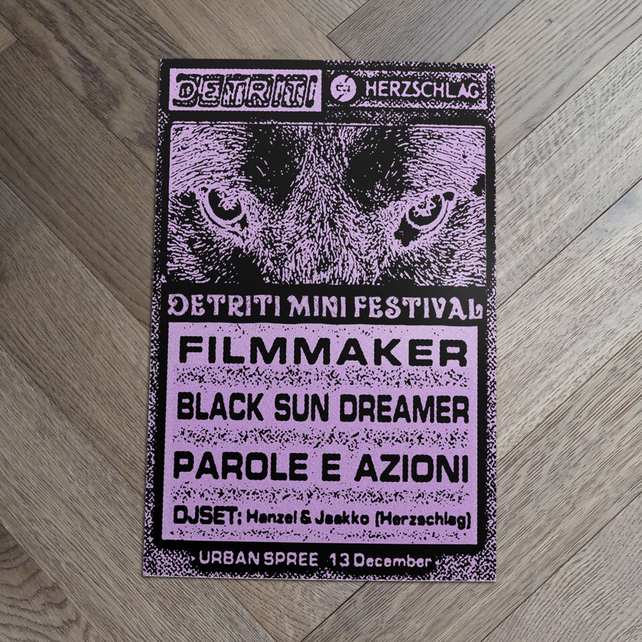 Image of Filmmaker + Black Sun Dreamer + Parole e azioni • 13 Dec