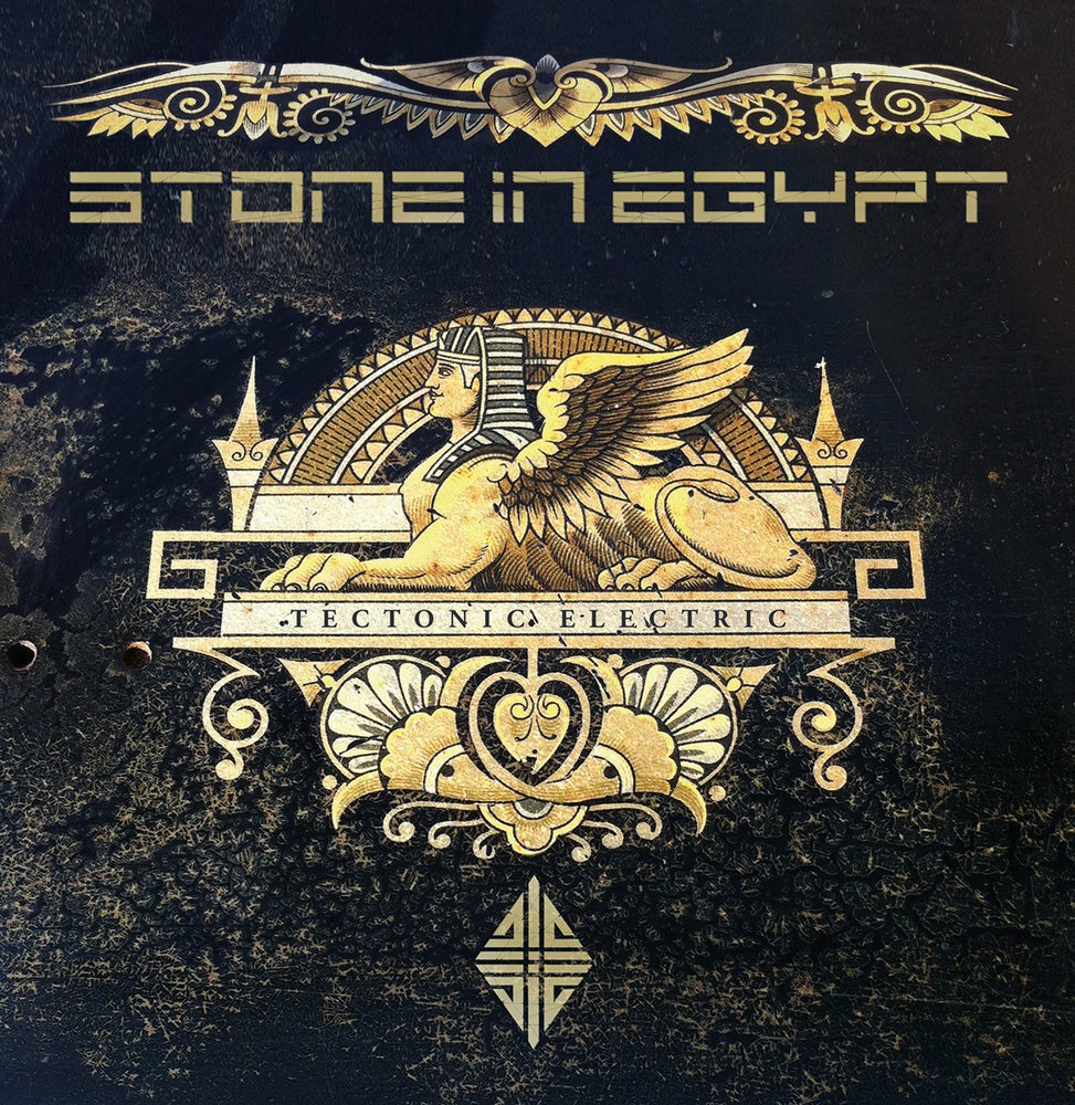 Image of STONE IN EGYPT - Tectonic Electric. Limited Edition Orange/Black Marbled Vinyl.