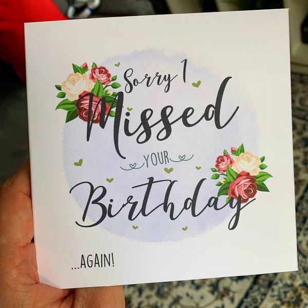 Image of Missed Birthday