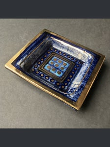 Image of Georges Pelletier Blue Vide-Poche or Decorative Dish, France