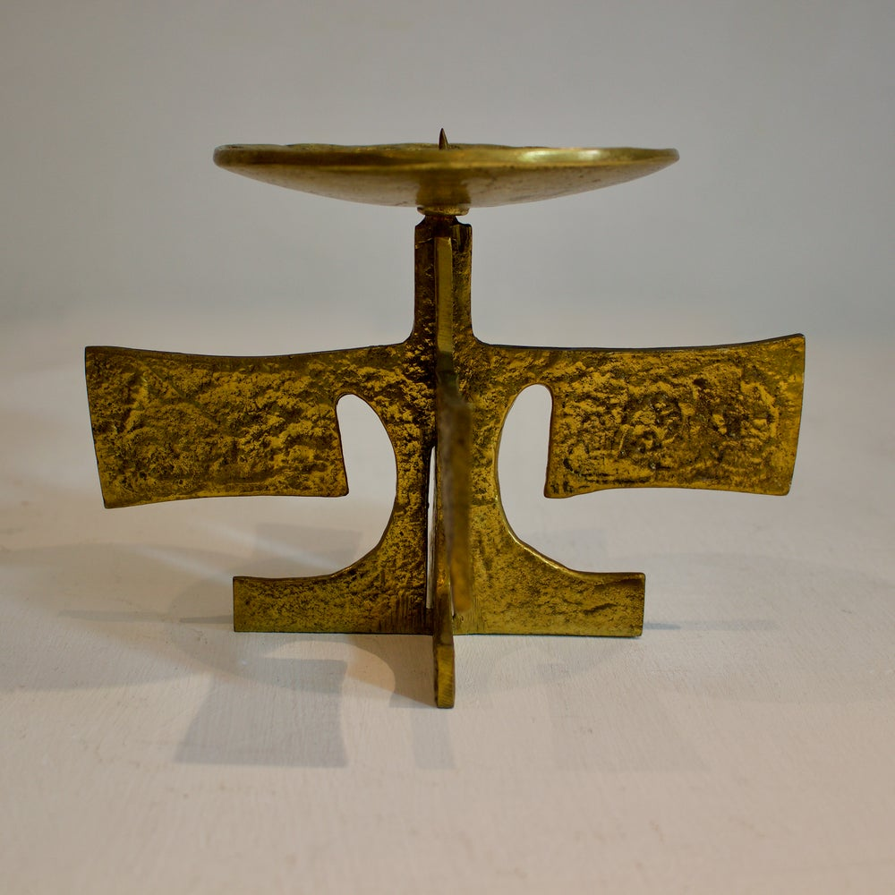 Image of Brass Candle Holder, European Mid-20th Century