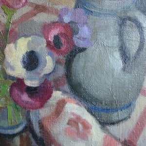 Image of 1927, Painting, 'Anemones,' Georges Lugon (1896-1989)