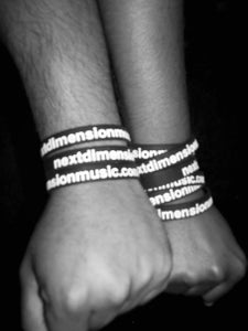 Image of next dimension music rubber wristband bracelet