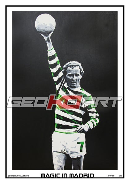 Image of JIMMY JOHNSTONE - DE STEFANO TESTIMONIAL - CELTIC V REAL MADRID